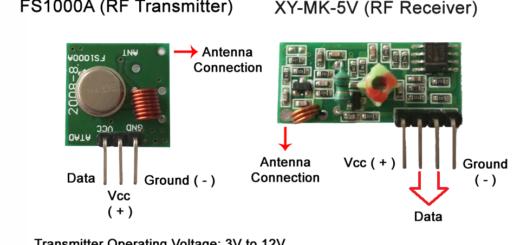 FS1000A 433MHZ RF transmitter & XY-MK-5V receiver module