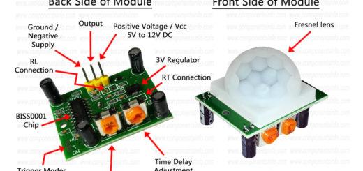 HC SR501 PIR Motion Sensor Module Pinout, Datasheet & Details